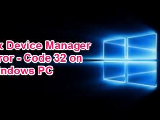 how to fix error 32 on windows