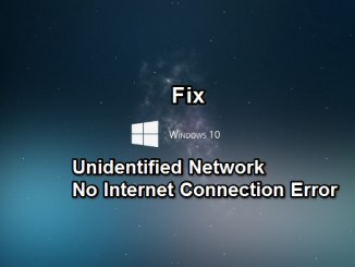 fix windows unidentified network no internet connection issue