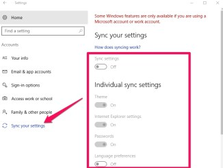 how to sync settings acorss multiple windows 10 devices