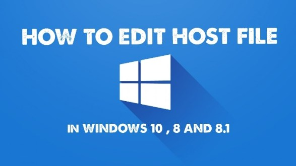 modify hosts file windows 10 8 and 8.1