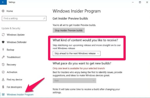 skip ahead to next windows 10 release