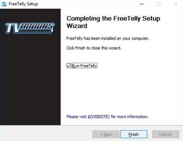 freetelly windows setup guide