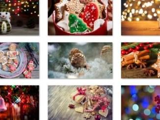 winter holiday glow theme windows 10