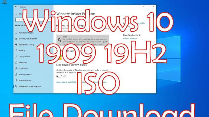 Windows 10 1909 19H2 iso Download Language Pack