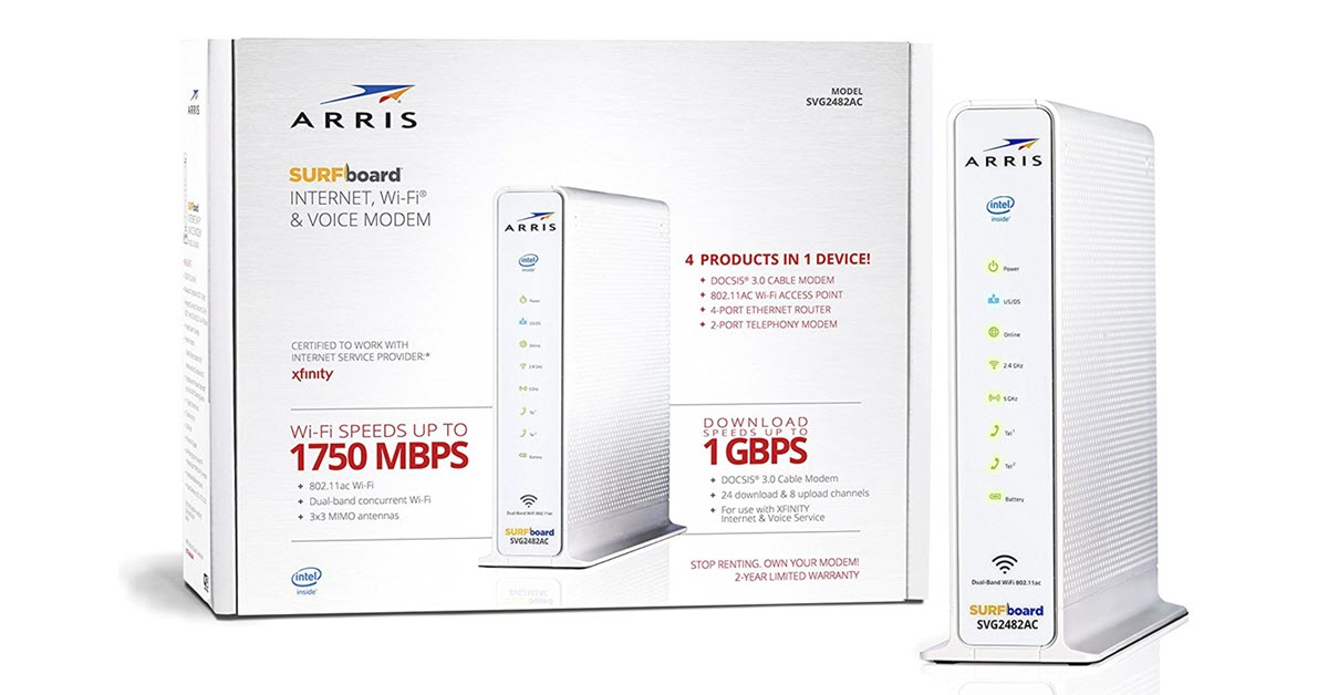 ARRIS SURFboard DOCSIS 24X8 Cable Modem Certified for XFINITY