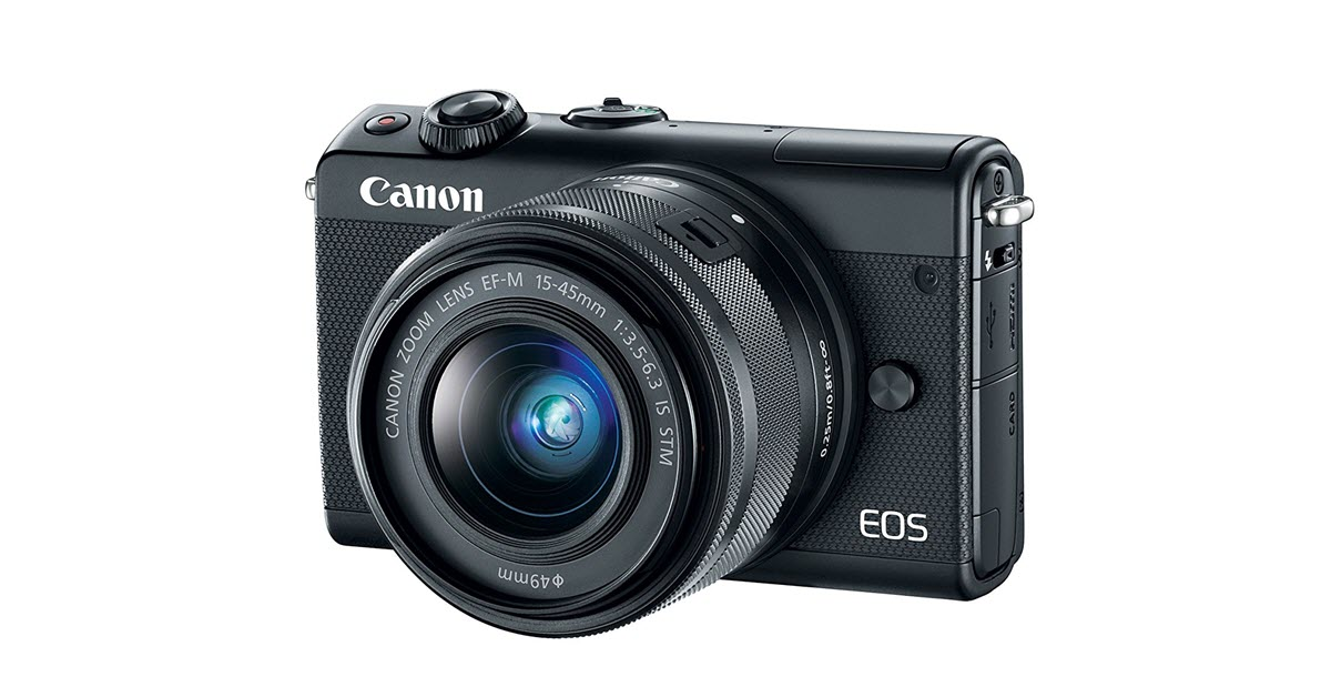 Canon EOS M100 Compact and Lightweight Design Selfie Camera