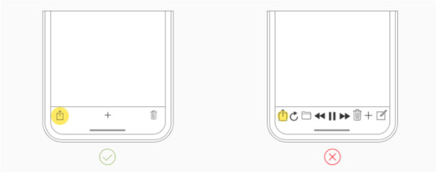 Designing for iPhone X: interactive controls