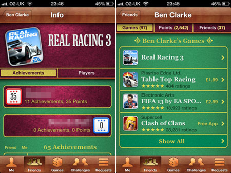 Real Racing 3 Game Centre Images
