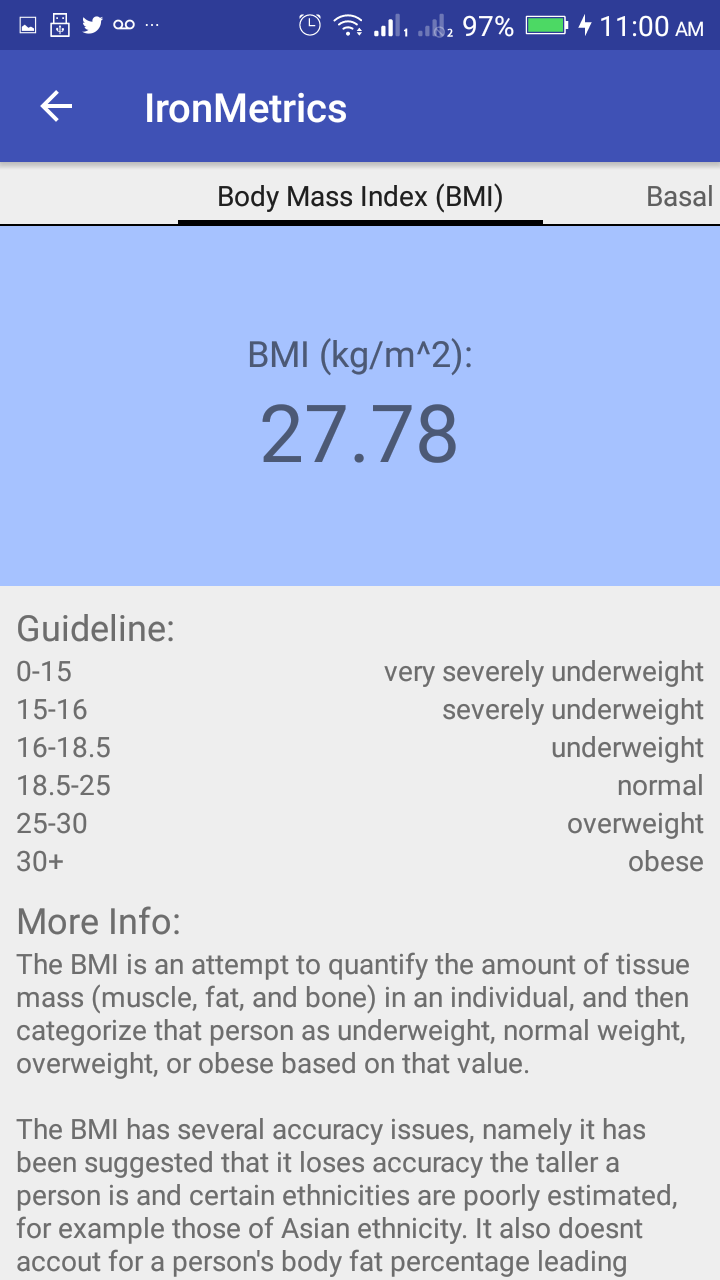 It's An All In One Free App With A Bmi Calculator And A Bmr Calculator  Keep Tabs On Your Fitness Levels And Ideal Weight With This Health  Statistics App