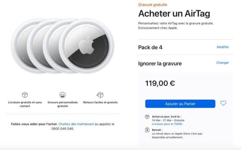 Acheter Pack 4 AirTag Apple Store En Ligne AirTag : les délais de livraison passent à mai