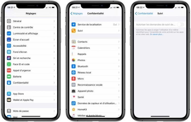 iOS 14 Bouton Suivi iOS 14.5 : le bouton pour lanti pistage est mystérieusement grisé chez certains utilisateurs