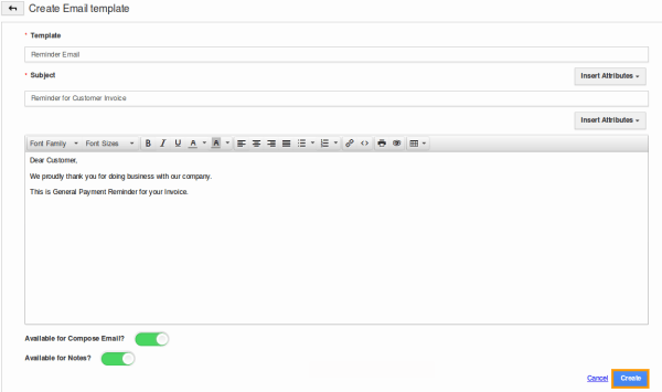 How do I Send a Reminder Email for an Invoice? | Apptivo FAQ