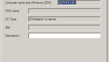 Windows Server 2008 – Resetar cuentas de equipo