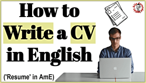 how to write a cv in english