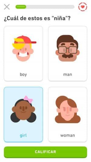 Ejercicios en Duolingo