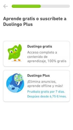 Duolingo gratis o de pago