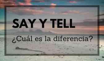 say y tell - diferencia