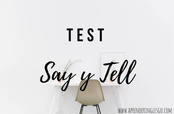 test say y tell - ejercicios para practicar