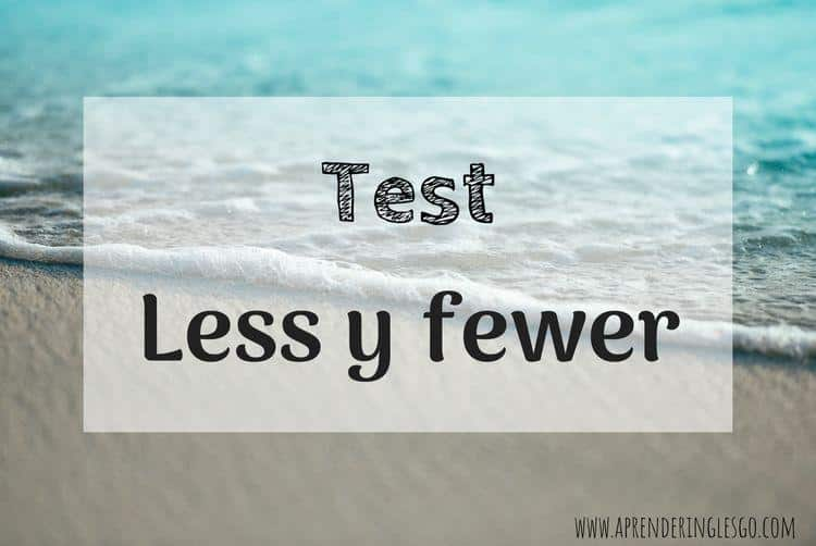 test less fewer - ejercicios para practicar