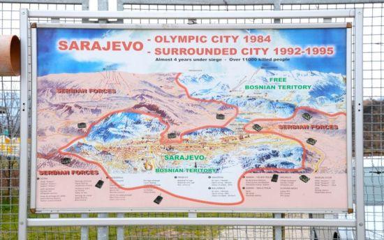 Bosnia / Sarajevo mapa