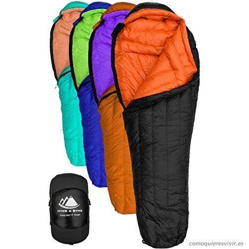 sacos de dormir infantiles acampada trekking