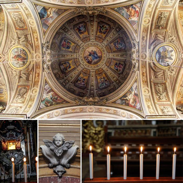 Detalhes da igreja em Ferrara