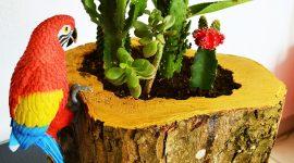 Transformer un tronc d'arbre / DIY