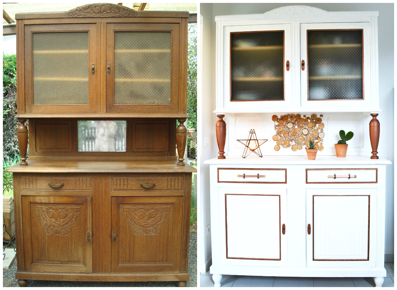R nover un buffet ancien diy for Nettoyer meuble ancien