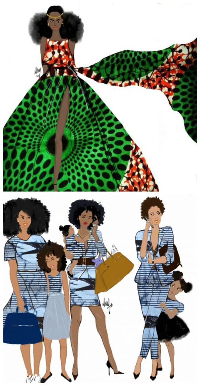 Tendance graphisme Wax - Niki Groove