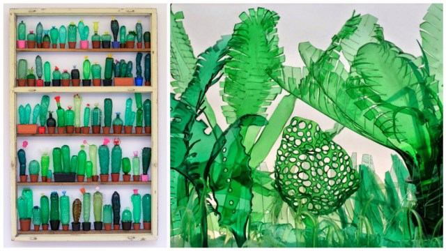 Sculptures plastic bottles - Upcycling Veronika Richterovà