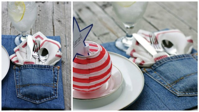 Set de table DIY - Recycler ses jeans