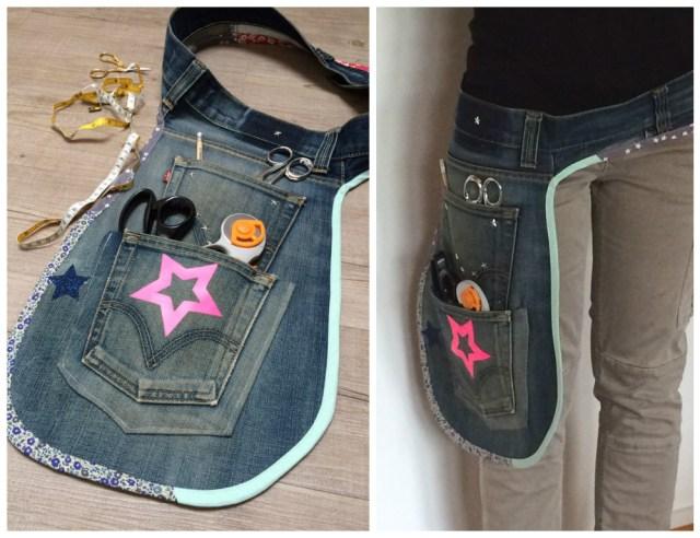 tablier DIY - Recycler ses jeans