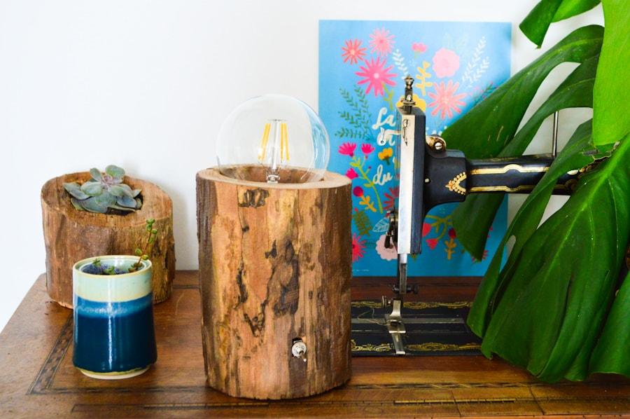 Transformer un tronc en lampe / DIY Après la flemme