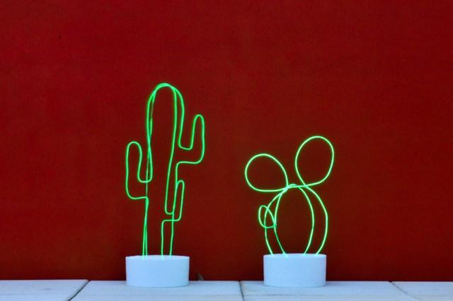 DIY - Un cactus lumineux en néon / Après la flemme