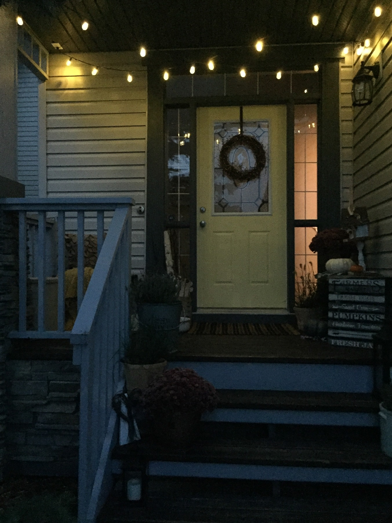My Harvest Themed Fall Front Porch A Pretty Life In The