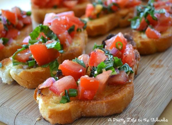 Basil Tomato Bruschetta A Pretty Life In The Suburbs
