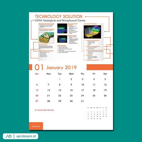 jasa desain kalender tangerang murah