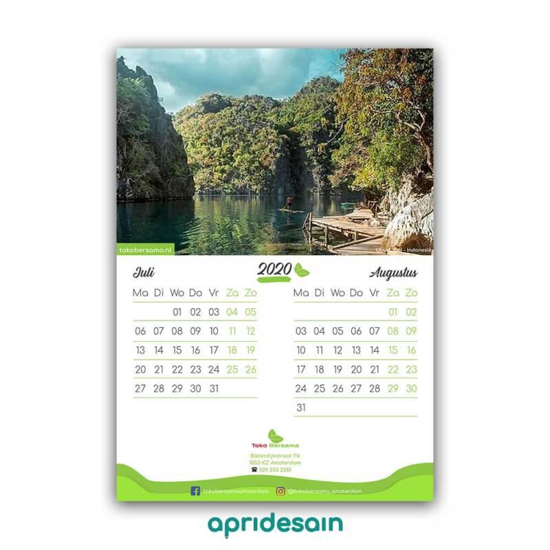 Jasa Desain Kalender 2021 Murah Elegan | ApriDesain.id