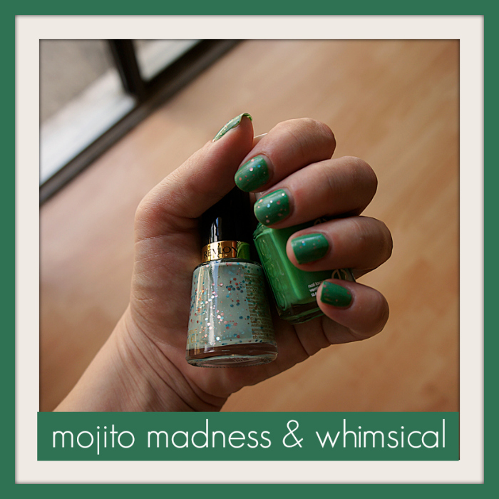 Mojito Madness & Whimsical by April Golightly, mermaid manicure