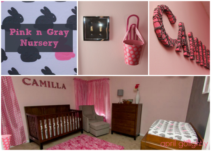 Girl Nursery Decor: Gray And Pink