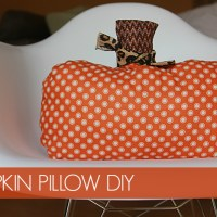 DIY Pumpkin Pillow