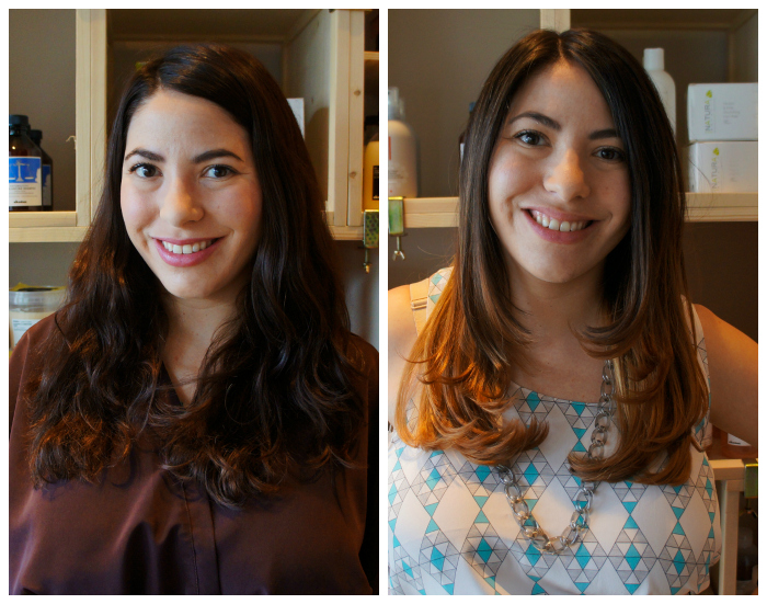 Salon Verde ombre before and after