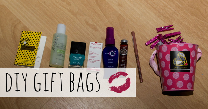 DIY Gift Bags with Beauty Products for Goodie Bags