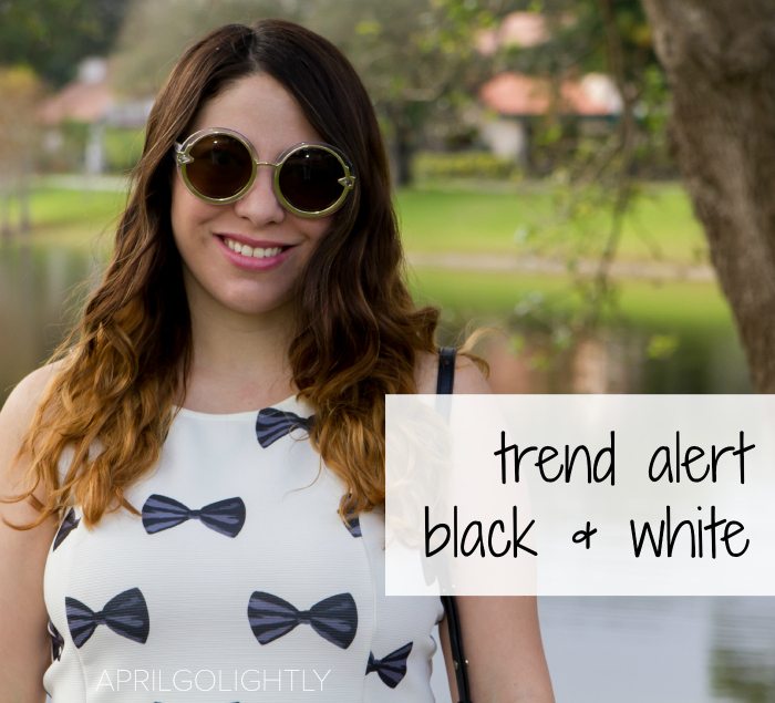 Trend Alert from Fashion Blogger April Golightly Black and White aprilgolightly.com