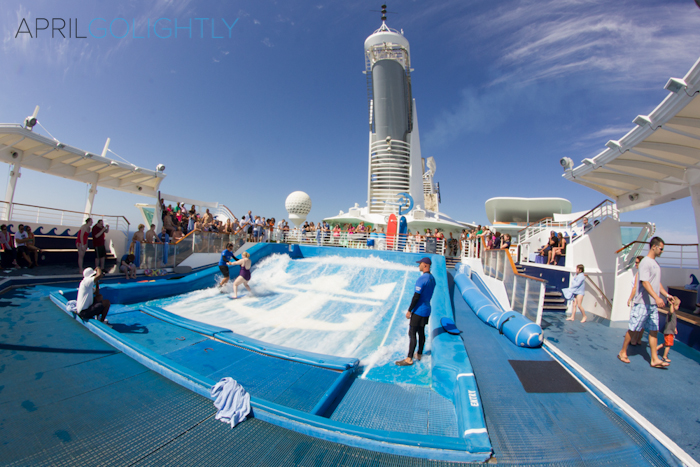 Surf Similator Flow Rider Liberty of the Seas Cruise #seastheday_