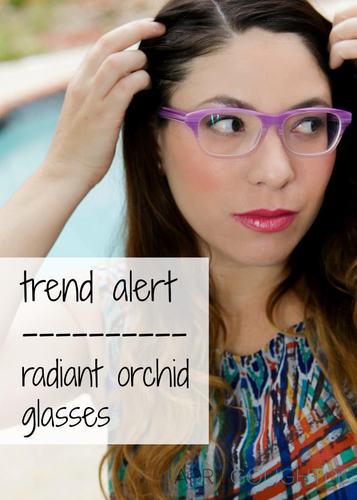 Trend alert Radiant Orchid prescription eyeglasses