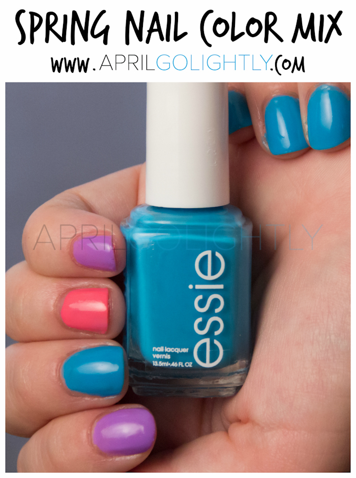 Spring Nail Polish Color Mix with I'm Addicted by Essie, Sittin Pretty, and bubby by Revlon #walgreensbeauty #shop aprilgolightly.com