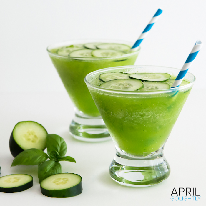 Cucumber Basil Daiquiri Drink Recipe #SweetNLowStars_-7
