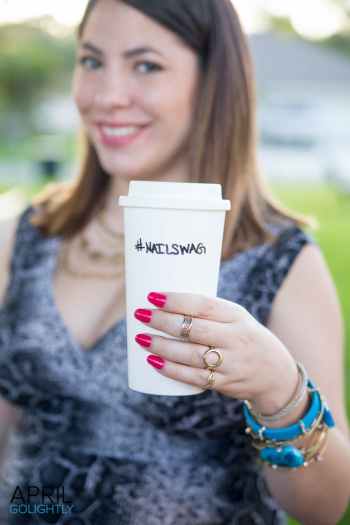 DIY Hashtag Coffee Cup #shop-0927