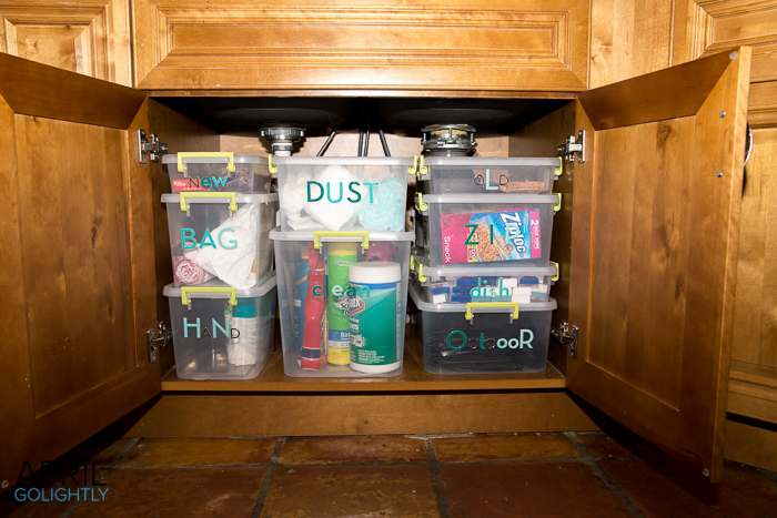 How To Organize Under Kitchen Sink April Golightly